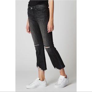 BLANKNYC The Varick Kick Flare Jeans Denim Crop